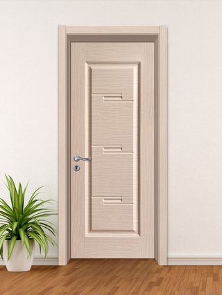 YK-618 Yingkang Cheap Pirce Bathroom Wooden Plastic Panel Leaf Composite Interior WPC Door