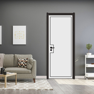 YK-681 China factory price wood plastic composite wpc door / abs door / polymer door / pvc door