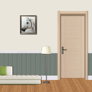 YK-608 2 panel dooreco friendly Bathroom door pvc film wpc skin door / pvc door / abs door / polymer door